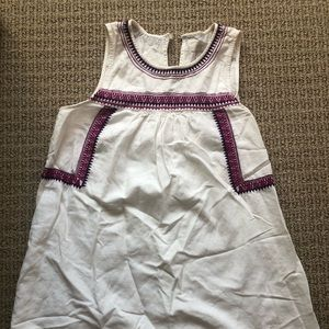 Loft linen embroidered dress